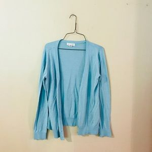 Turquoise Forever 21 Button Up Cardigan